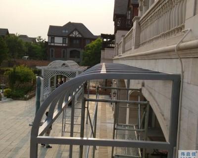 广州二沙岛别墅全铝庭院大门
