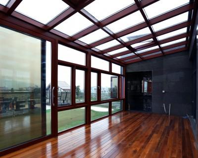 广州别墅铝合金封阳台、阳光房