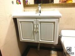 仿木纹铝合金卫浴柜