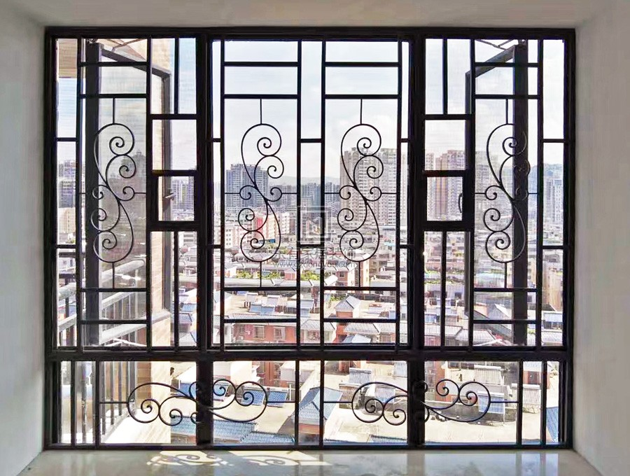世纪绿洲铝合金窗花加纱窗 MC-043