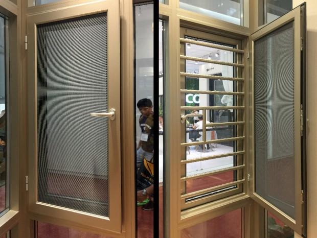 铝合金平开窗加纱窗一体式 MC-010