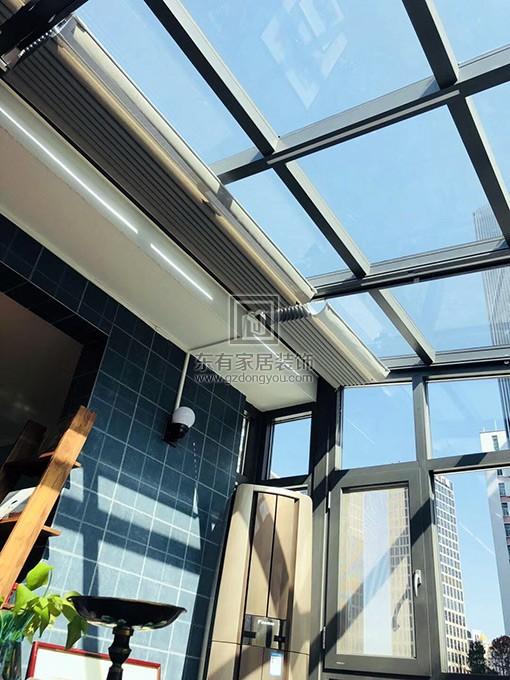 铝合金玻璃阳光房顶部视觉