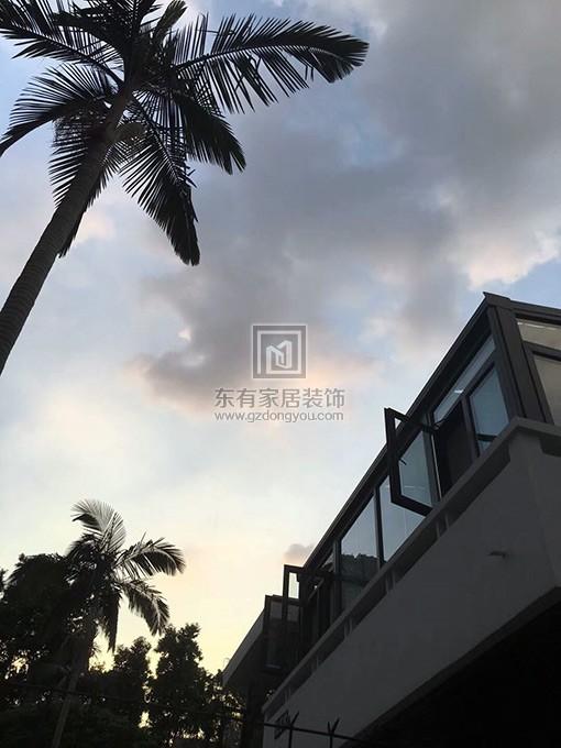 铝合金玻璃阳光房外部景观