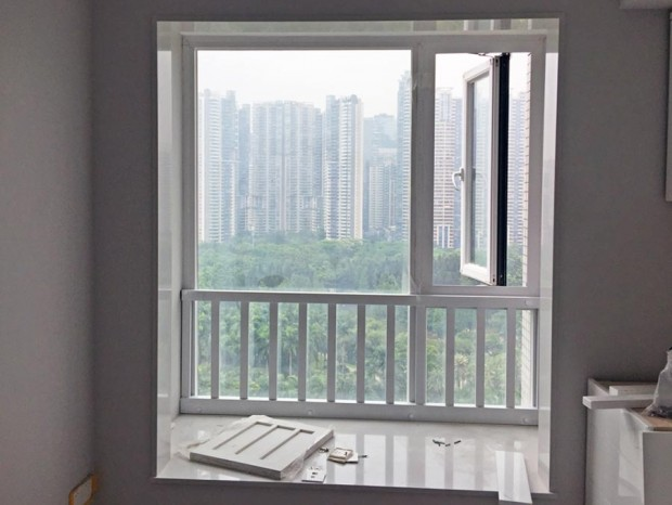 凯旋新世界豪华铝合金隔音门窗、窗前护栏 MC-026