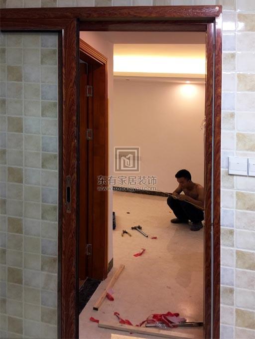铝合金吊趟门完成安装效果