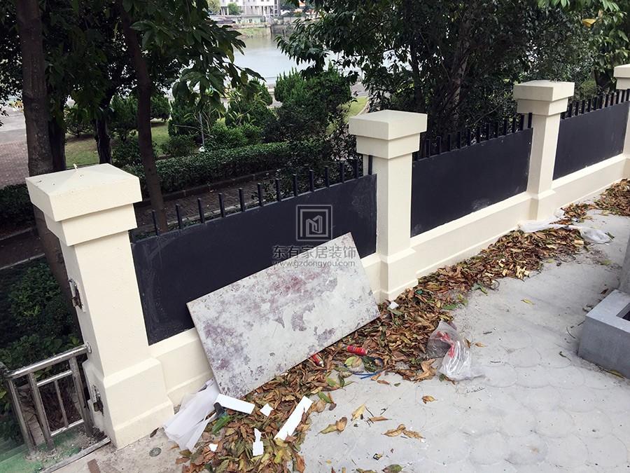 不锈钢氟碳漆围栏完工效果