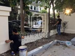 二沙岛不锈钢氟碳漆围栏更换 LG-014