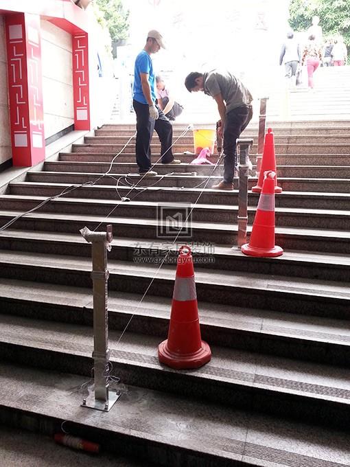 东山口地铁口不锈钢扶手 FS-011