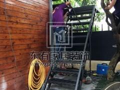 广州二沙岛丁生烤漆不锈钢楼梯 FS-018