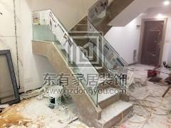 海滨花园复式楼梯玻璃扶手 FS-021