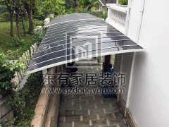 凤凰城别墅车库雨棚(耐力板雨棚) YP-005
