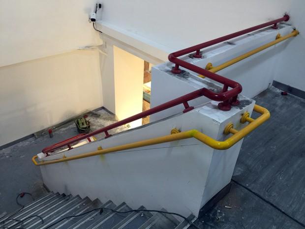 中森美食汇烤漆彩色儿童不锈钢楼梯扶手 FS-030