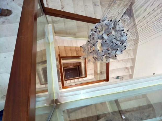 木扶手玻璃楼梯 FS-001