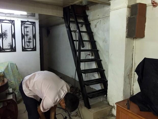 北京路林小姐定制烤漆钢梯 FS-005