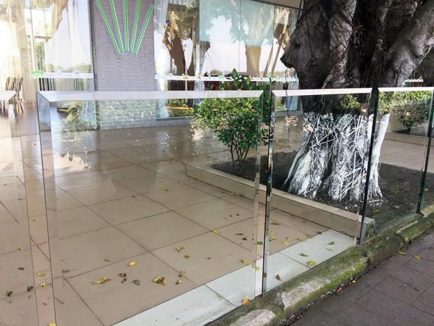 户外咖啡馆玻璃栏杆 LG-049