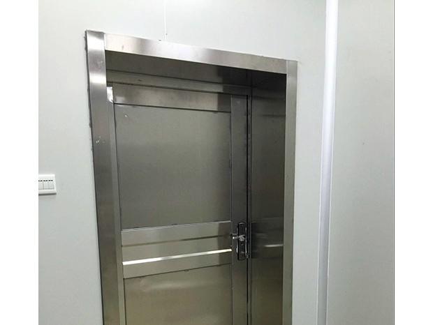 华农学院不锈钢包板门 DM-003