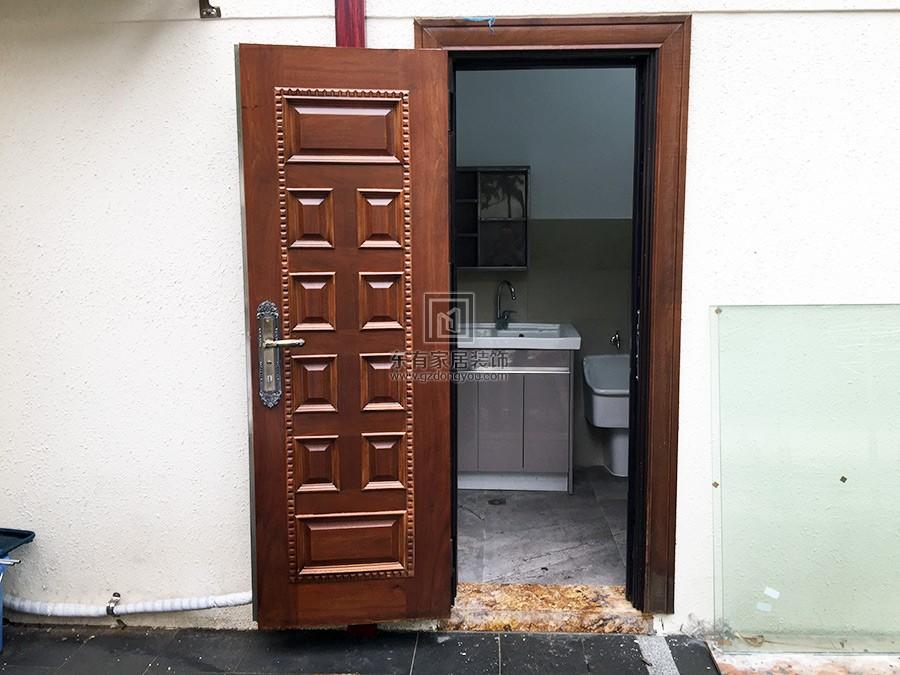 二沙岛别墅不锈钢仿木门 DM-020
