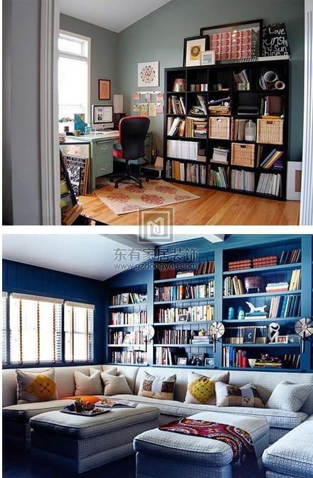 没有书房一样可以藏很多书,家里空间不大的童鞋可以参考一下~1