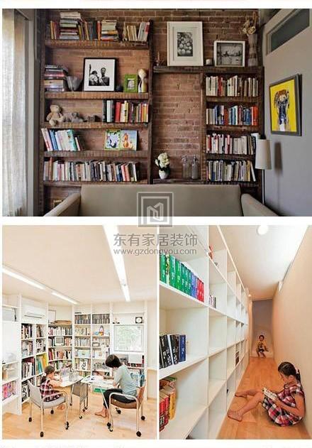 没有书房一样可以藏很多书,家里空间不大的童鞋可以参考一下~3