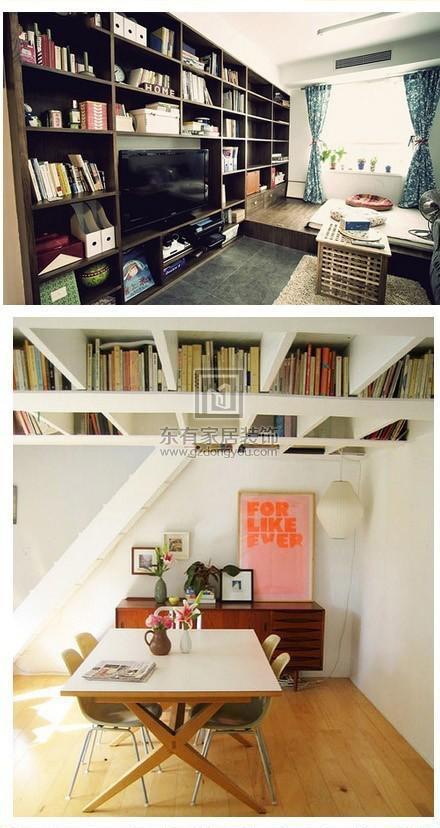 没有书房一样可以藏很多书,家里空间不大的童鞋可以参考一下~4