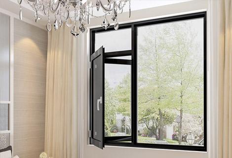 铝合金外开窗纱一体纱网内置