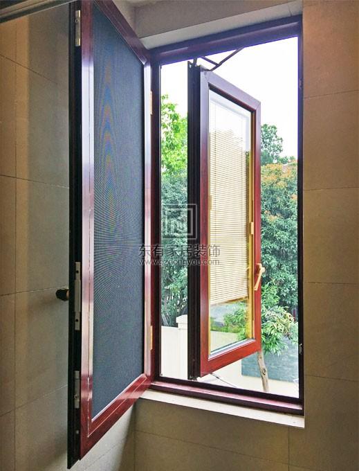 别墅豪华隔热铝窗(德国HOPO系统,窗纱一体,带电动百叶) MC-035