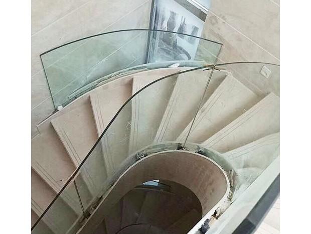 弯弧玻璃楼梯扶手 FS-042