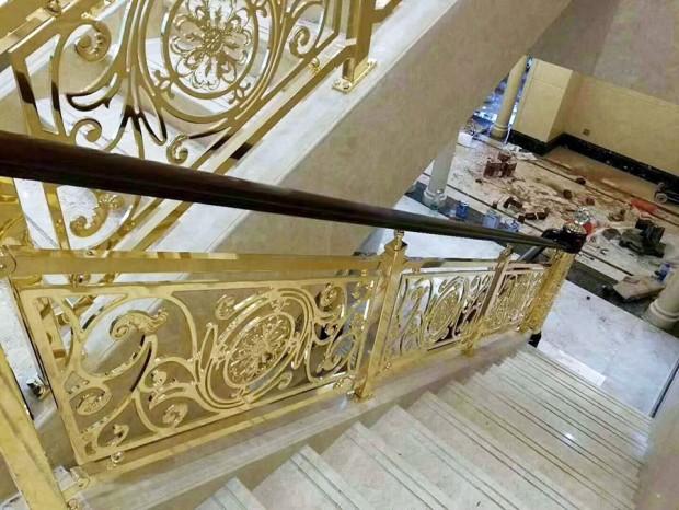 别墅铝合金雕花楼梯扶手 FS-046