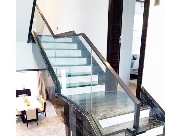 黑钢玻璃楼梯扶手 FS-049