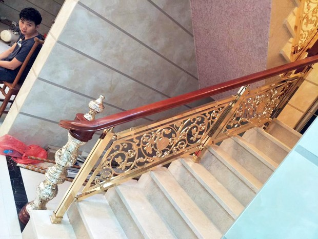 铝合金钛金楼梯扶手 FS-055