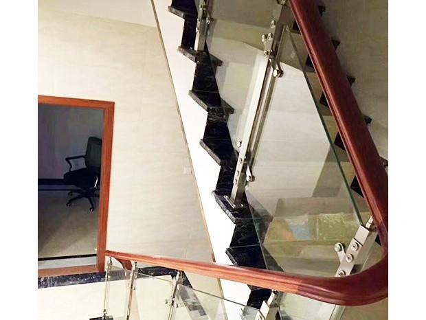木面不锈钢玻璃楼梯扶手 FS-059