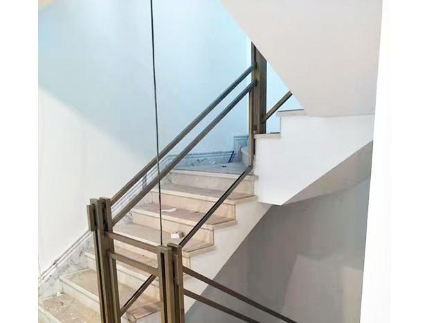 不锈钢钛金玻璃楼梯扶手 FS-063