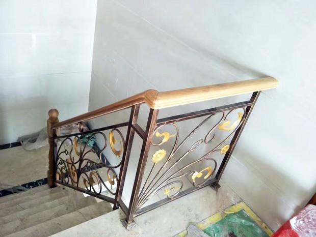 铁艺木面楼梯扶手 FS-064