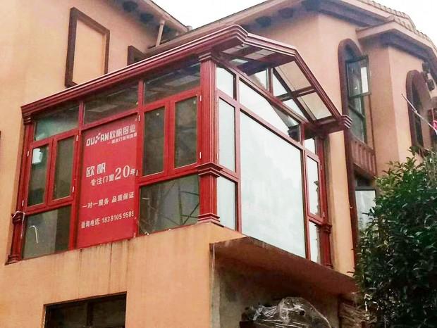 铝合金仿木纹门窗、阳光房 MC-138