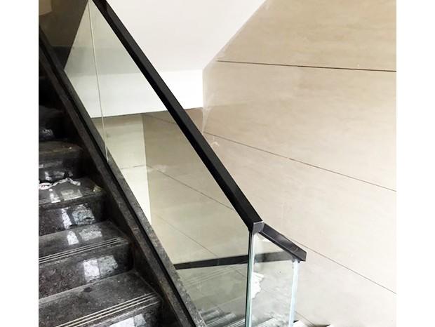 玻璃楼梯扶手(木面) FS-067