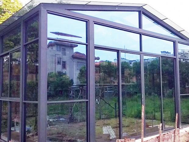 别墅玻璃阳光房安装 MC-148