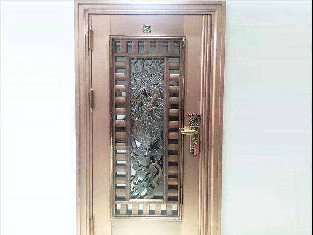 彩色不锈钢防盗门 DM-012