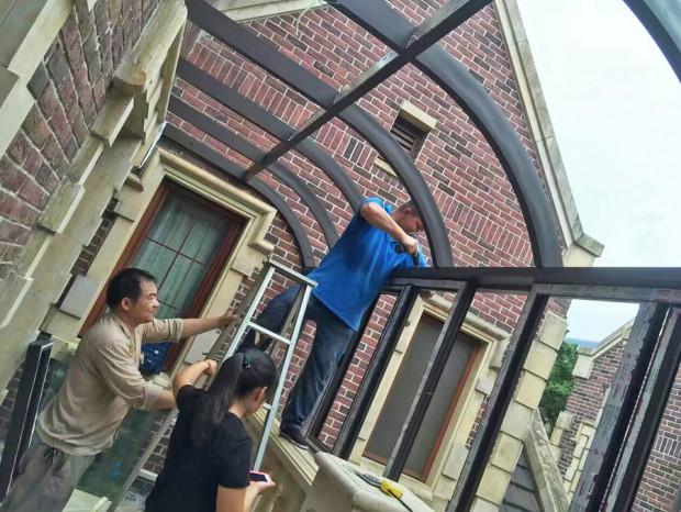 广州别墅铝合金窗封阳台 MC-151