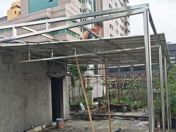 北京路刘小姐不锈钢雨棚 YP-001