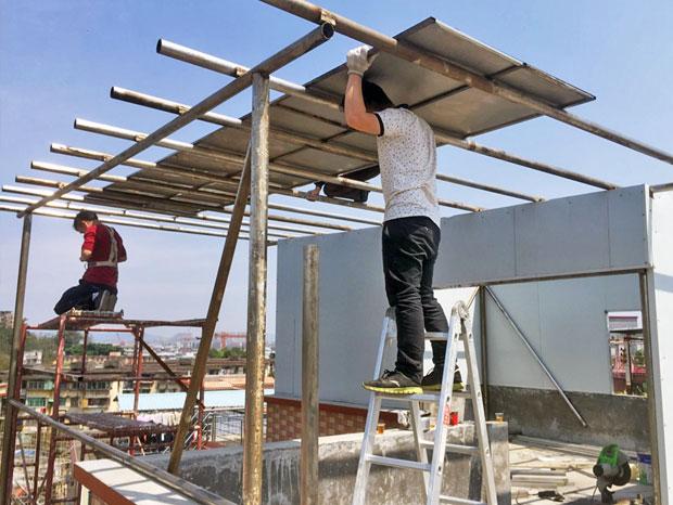 天台搭建不锈钢棚屋 YP-018