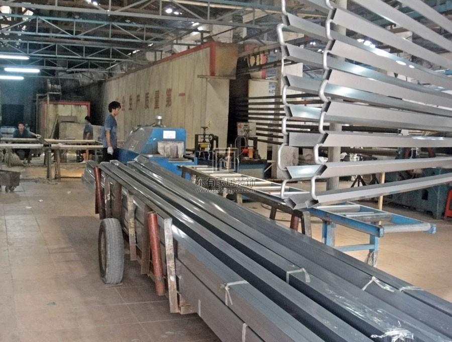 铝艺门加工厂房现场实拍