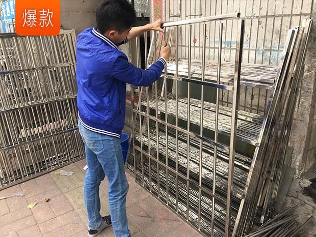 广州出租屋防盗门和防盗网安装工程 FDW-011