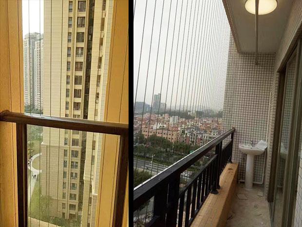 亚运城楼盘阳台隐形防盗网 FDW-025