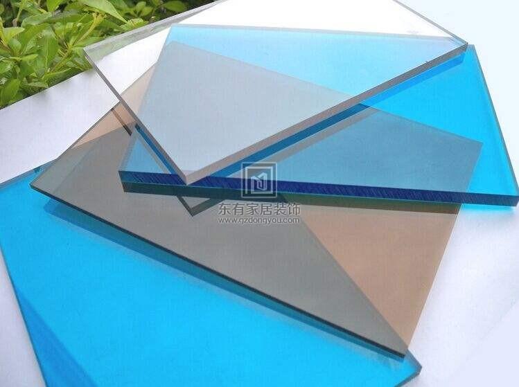 阳光板与耐力板制成的雨棚