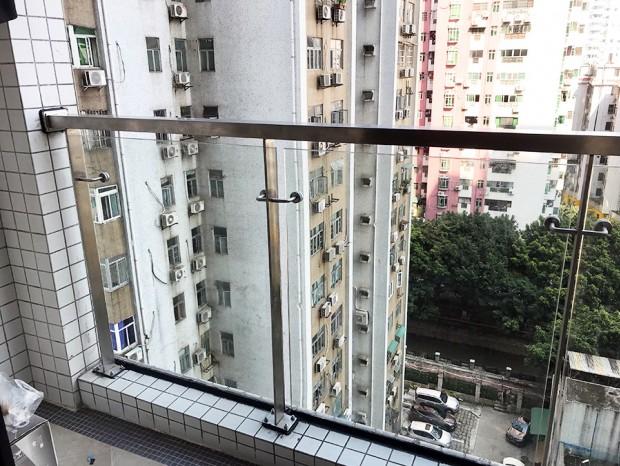 天河华康小区阳台不锈钢护栏 LG-078