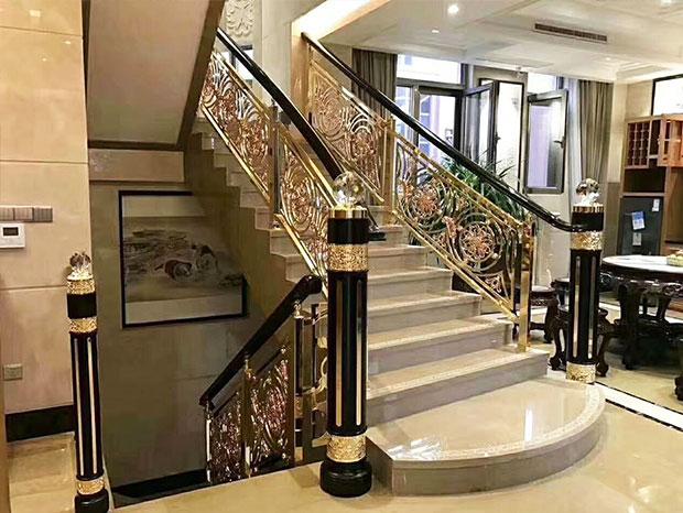 别墅豪华型铝合金楼梯扶手 FS-075