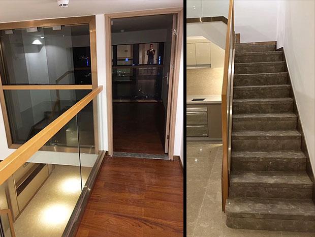 复式楼玻璃楼梯扶手 FS-077