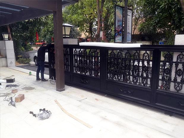 南沙星河丹堤铝艺大门、护栏 LG-087