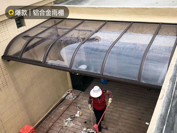 铝合金耐力板雨棚 YP-033
