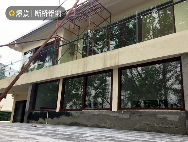 别墅重型木纹推拉窗(HOPO系统,三轨带纱) MC-030